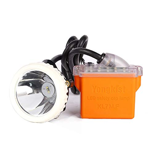 Yongkist Mining Headlight 1+2 LED Rechargeable Miner Lamp for Hard Hat 18650 Battery Package With Led Lights Mining lamp Waterproof Headlight Explosion Proof Miner's lamp
