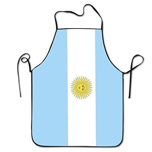 Delantal con Lazos extralargos Delantal de Cocina para Hombres y Mujeres para cocinar Hornear Hacer Manualidades jardinería Barbacoa Bandera de Argentina