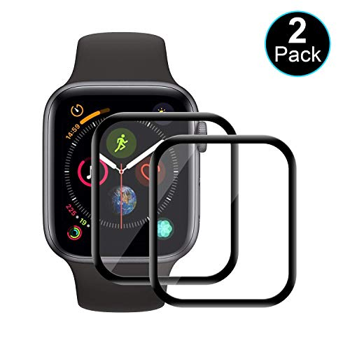 WISMURHI [2 Pezzi] Pellicola Protettiva Vetro per Apple Watch Series 4/Series 5 44mm, [3D Full Coverage][Durezza 9H][Anti-riflesso][Ultra-Clear] Apple Watch Series 4/Series 5 44mm Vetro Temperato