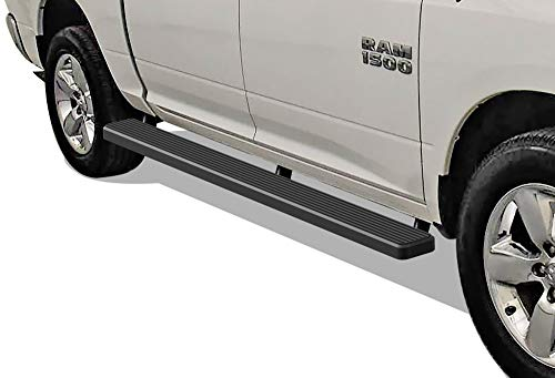 Running Boards Nerf Bars Side Steps Compatible with 2009-2018 Ram 1500 Crew Cab Pickup 5.5ft Short Bed /& 2010-2020 Ram 2500 3500 09-12 Drilling Required APS iBoard Silver 5 inches Wheel to Wheel