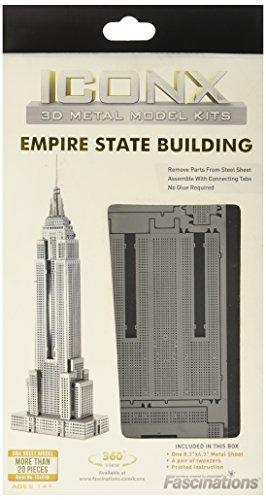 Mini Réplica de Montar ICONX 3D Metal Model Kit, Quebra-Cabeça Empire State Building