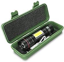 Flashlight Zoom Flashlight T6 Cob Lamp USB Rechargeable Built