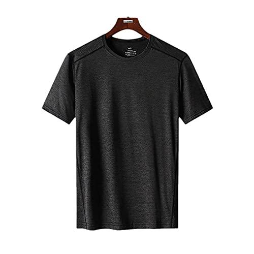DamaiOpeningcs Camiseta RáPido Fit para Ejercicio,Camiseta Delgada Delgada Delgada Slim Slim Screed Screed Screed Seco-Gris_5XL