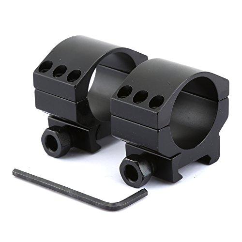 Dophee 2*30mm Low Profile Heavy Duty Gewehr Scope Montageringe für Weaver Picatinny Schienen