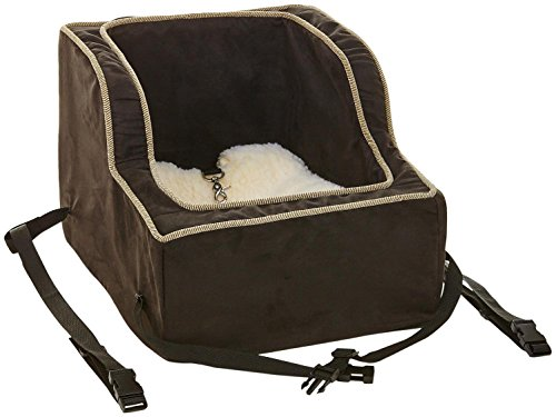 Snoozer High-Back Console Pet Car Seat, X-Large High Back, Black/Herringbone