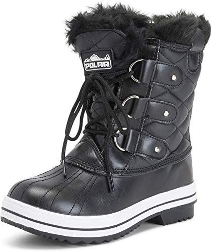 POLAR Womens Snow Boot Quilted Short Winter Snow Rain Warm Waterproof Boots - 8 - BLL39 YC0023