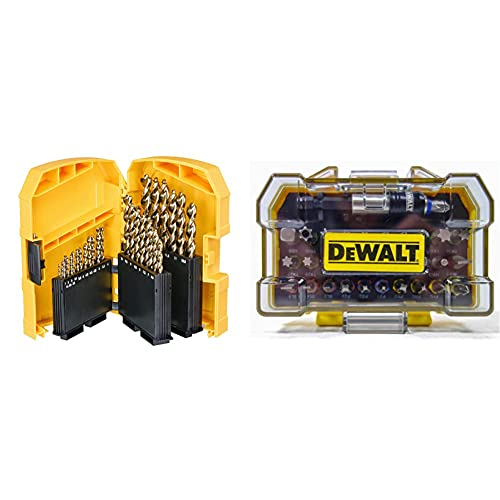 Dewalt DT7926-XJ DT7926-XJ-Tough Case Grande con 29 brocas para Metal Extreme 2, Multi-Colour & DT7969-QZ, 32 Piece XR Professional Magnetic Screwdriver Bit Accessory Set, Yellow