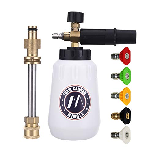 M MINGLE Foam Cannon, Replacement Parts for Sun Joe SPX Series Pressure Washer, with 5 Nozzle Tips, 1/4 Inch Quick Connector