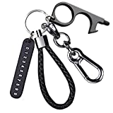 Woven Key Chain Strap Keychains Holder Ring Women Men Car Motor Bicycle Keys Chain Holder with Door Opener