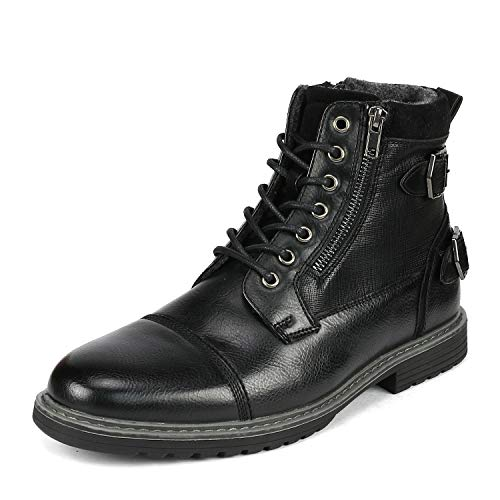Bruno Marc Men s Philly_10 Black Dress Combat Motorcycle Oxfords Chukka Boots Size 10.5 M US