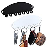 Simple rural 2 Pack Magnetic Hooks for Refrigerator Key Hooks Cute Key Hanger Magnetic Organizer No-Installation Heavy Duty Magnetic Hook Black and White