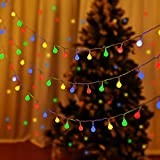 LUMINATERY 100 LED Mini Globe Ball String Lights, Fairy String Lights Plug in, 8 Lighting Modes, 43ft (Include Lead Wire), Perfect for Bedroom Party Tree Garden Christmas Indoor Outdoor (Multicolor)