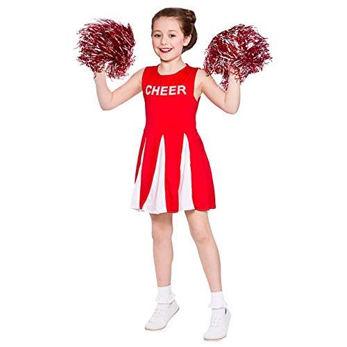 Costume da vestito operato da giavellotto delle ragazze rosso / bianco (11-13 anni) 146-158cm