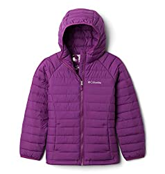 Columbia Youth Girls Powder Lite Hooded Jacket, Plum, Small