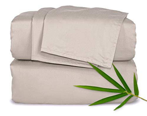 Pure Bamboo Sheets Queen Size Bed Sheets 4 Piece Set, 100%...