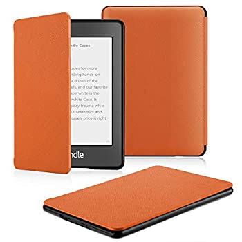 OMOTON Kindle Paperwhite Case  10th Generation-2018  Smart Shell Cover with Auto Sleep Wake Feature for Kindle Paperwhite 10th Gen 2018 Released Orange