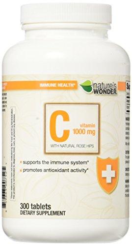 Nature's Wonder Vitamin C 1000mg RH Tablets, 300 Count