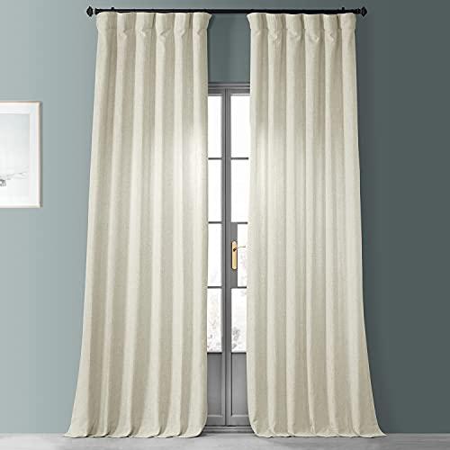 HPD Half Price Drapes FHLCH-VET1319X-P Heavy Faux Linen Curtain (1 Panel), 50 X 96, Barley