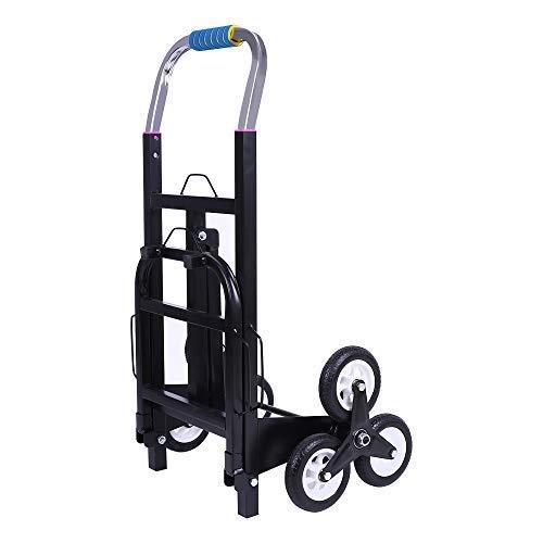 ZEHNHASE Carro para escaleras con 6 ruedas, 150kg Carro Portátil de Escalera para Todos los Terrenos Carretilla Plegable