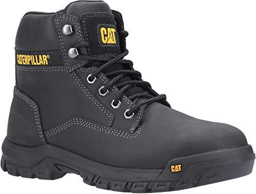 Caterpillar CAT - Botas de seguridad para hombre, talla mediana S3, color negro, color Negro, talla 46 EU