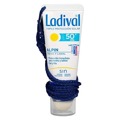 Ladival Alpin Protector Solar Facial y Labial - Sol y Frío - FPS 50+, 20 ml