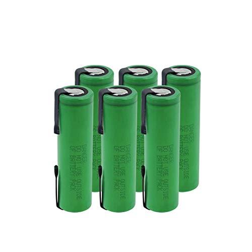 HTRN Batería De Litio De 18650 Vtc6 3.7v 3000mah, Batería MóVil del Poder del Flash Recargable 6pcs