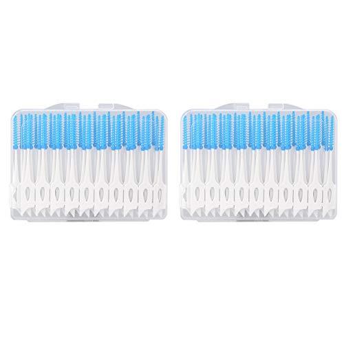 Einweg Interdental Brushes, 80 Stück Kunststoff Bürsten Interdental Reinigung Enge Zahnreinigung Zahnzwischenräume Mundpflege Tool