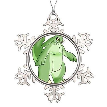 VinMea - Adorno de metal con copos de nieve para árbol de Navidad, decoración de árbol