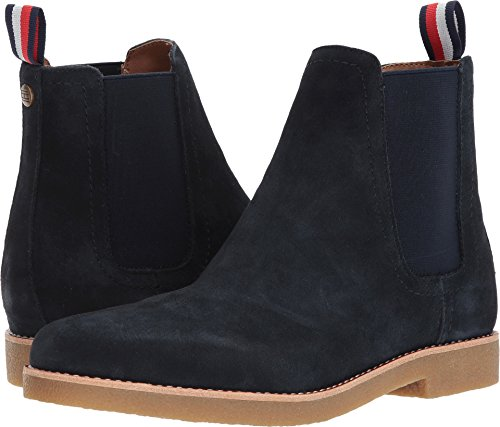 Tommy Hilfiger Men's Crane Chelsea Boot, Navy, 13 Medium US