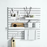 Keepo Pegboard Combination Kit with 4 Pegboards and 14 Accessories Modular Hanging for Wall Organizer, Crafts Organization, Ornaments Display, Nursery Storage, 22' x 22', White   Peg Boards for Walls