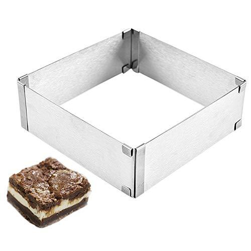 """Rectangle shape leaf steel cookie gâteau cutter 1/"""" deep set de 6-décoration outil"""