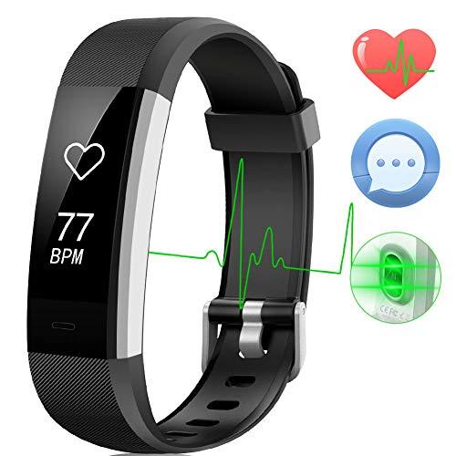 AISIRER Fitness Armband Wasserdicht IP67 Fitness Tracker Smart Watch Pulsmesser Aktivitätstracker Schrittzaehler Kalorienzähler Schlafmonitor Smartwatch 14 Trainingsmodi mit iPhone Android Handy