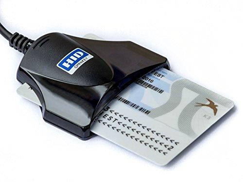 HID Identity Omnikey 1021, Lettore e scrittore di smart card USB per CNS, eID e CRS firma digitale, Nero