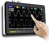 Kacsoo Osciloscopio digital de mano Osciloscopio de almacenamiento digital 1013D de 7 pulgadas y 2 canales Osciloscopios USB portátiles con ancho de banda de 100MHz y frecuencia de muestreo de 1GS