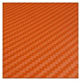 In fibra di carbonio vinile Car Wrap autoadesivi dell'automobile e decalcomanie del motociclo dell'automobile che designa gli accessori impermeabile Pellicola Wrapping (Color Name : Orange)
