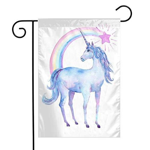 Outdoor Garden Free Printable Watercolor Unicorn Flag 12 X 18 Inch Farmhouse Burlap Yard Outdoor Decor