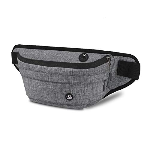 WATERFLY Fanny Pack for Men Women Water Resistant Large Hiking Waist Bag Pack Carrying All Phones for Running Walking Traveling