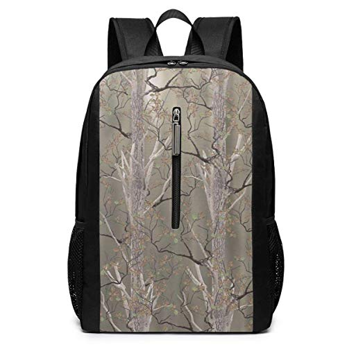 TRFashion Sac à Dos Wildlife North Woods Real Branch Laptop Backpack 17 inches Travel Gym Bag Yoga Bag School Bag Book Bag for Men Women Teenagers