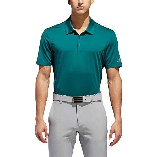 adidas - Polo da Golf Ultimate Solid da Uomo, Uomo, TM1364S8, Noble Green F, S