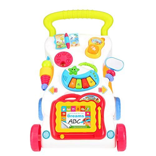 Gong Andador Bebe, Andador De Bebé Multifuncional, Cochecito De Pie, Regalo Niños, Música para Niños Pequeños, Piano, Teléfono, Juguete De Dibujo