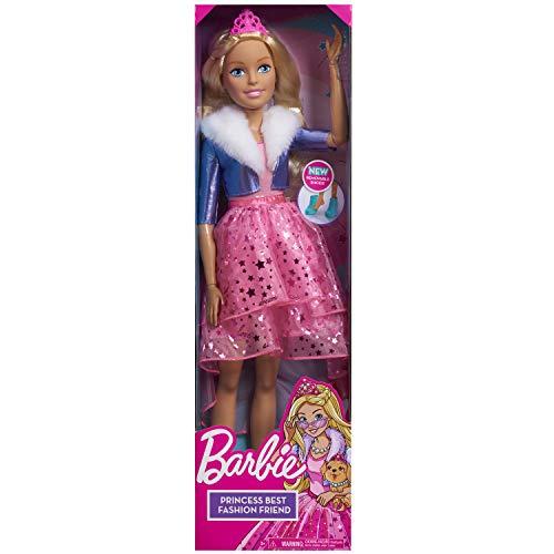 JP Barbie Best Fashion Friend Princess Adventure BAR03101 - Muñeca (28'), Color Rubio