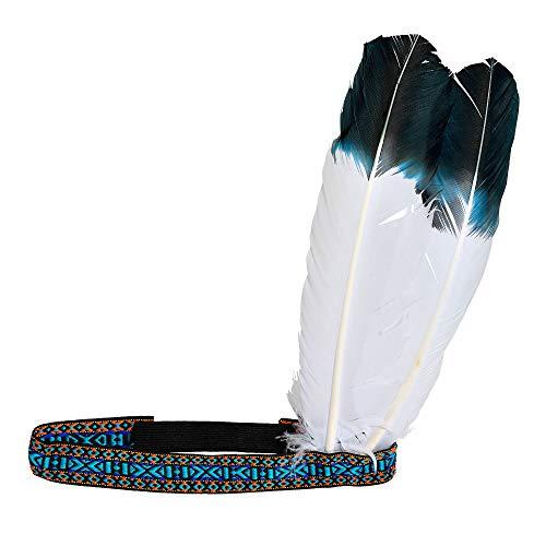 Widmann 01985 Indianerstirnband mit Federn, Damen, Mehrfarbig