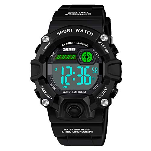 Dreamingbox Uhren für Jungen ab 5-12 Jahre, Wasserdicht Digital Armbanduhr für Kinder 5-10 Jahre Jungen Mädchen Geschenk 5-12 Jahre Jungen Spielzeug Spielzeug für Mädchen ab 5-12 Jahre Schwarz