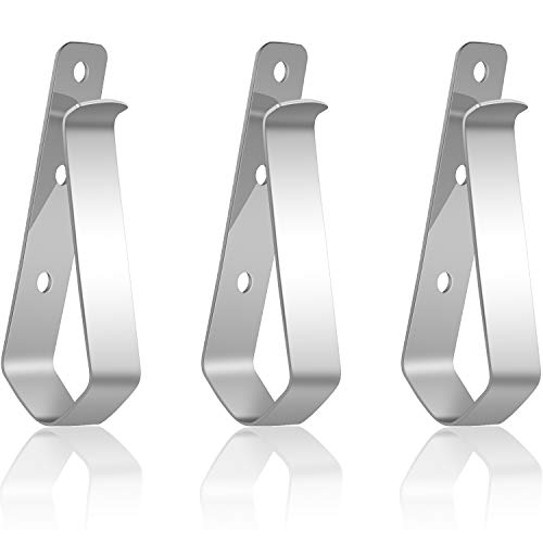 Remote Visor Clips Replacement Garage Door Opener Clip Compatible with Liftmaster Sears Chamberlain Remote Door Openers (,Black) (3, Silver)