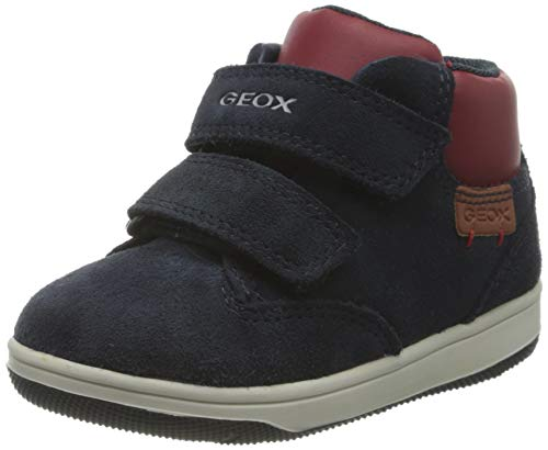 Geox Baby-Jungen B New Flick Boy C Ankle Boot, Blau (Navy/Red), 26 EU