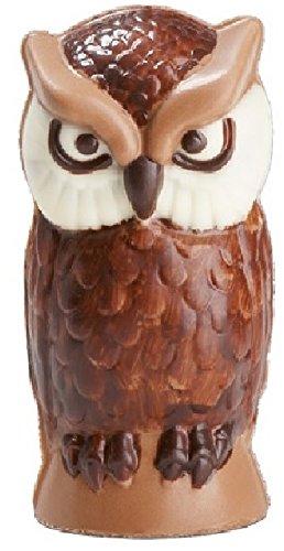 02#081021 Schokolade, Tiere, Eule klein, Vollmilch, Geschenk, Tierliebhaber, Voliere, Ornithologe,