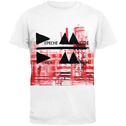 FEA Herren Depeche Mode Band Photo Soft T-Shirt - Weiß - X-Groß