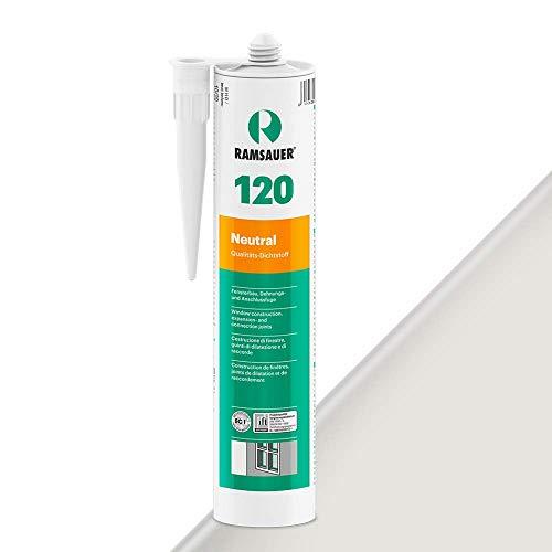 Ramsauer 120 - Sellador de silicona neutra, color gris y blanco