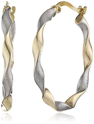 Fascination by Ellen K. Damen Creolen 8 Karat 333 Gold zweifarbig diamantiert 324310175