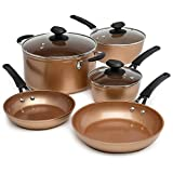 Ecolution Endure Titanium Ceramic Easy Clean Pots and Pans with Nonstick Interior Cookware Set with...